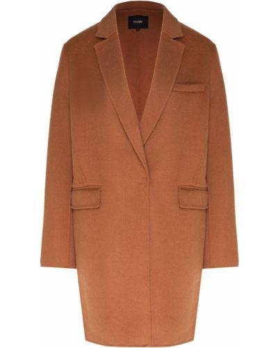 Пальто пальто-халат шерстяное Maje