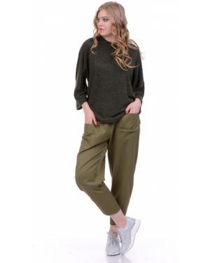 Летние брюки с накладными карманами с защипами Lautus
