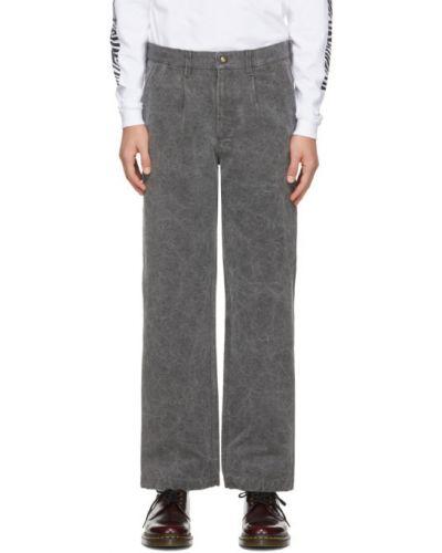 Прямые белые брюки с карманами Noah