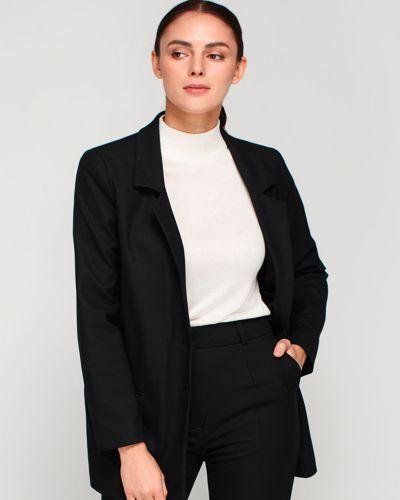 Текстильный черный пиджак для офиса Must Have