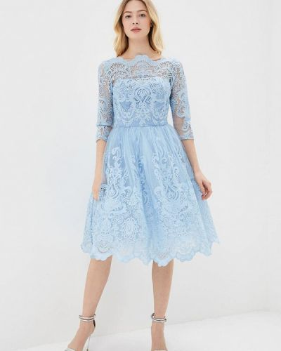 Голубое платье мини Chi Chi London