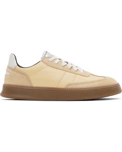 Białe sneakersy skorzane na obcasie Spalwart