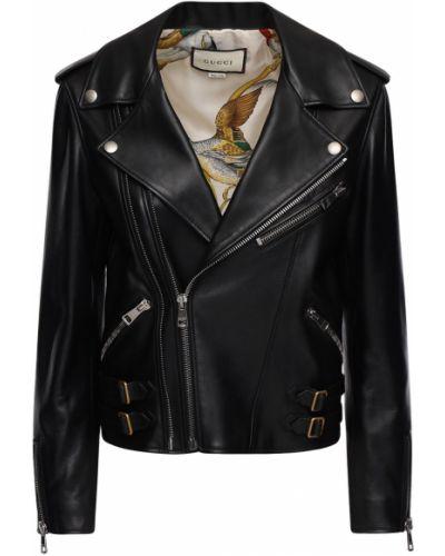 Skórzany kurtka Gucci