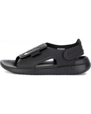 Сандалии черный кожаный Nike