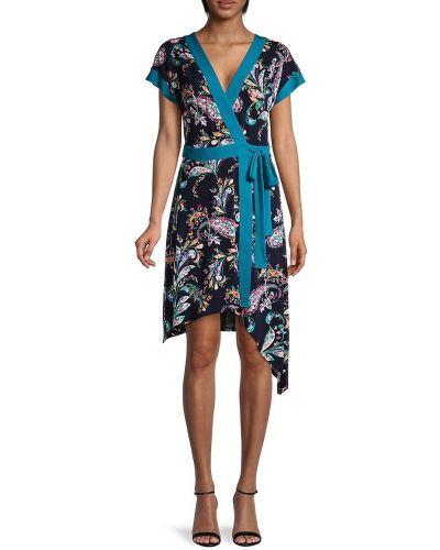 Платье с запахом с принтом с декольте с короткими рукавами Bcbgeneration