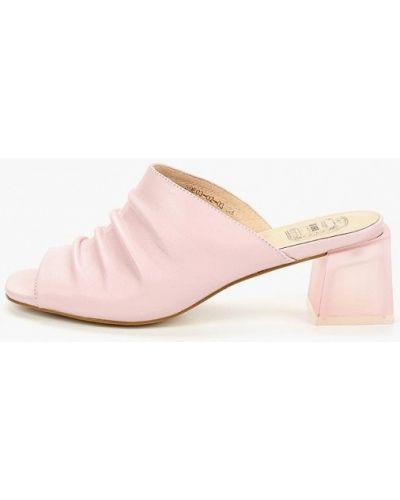 Сабо розовый на каблуке Palazzo D'oro