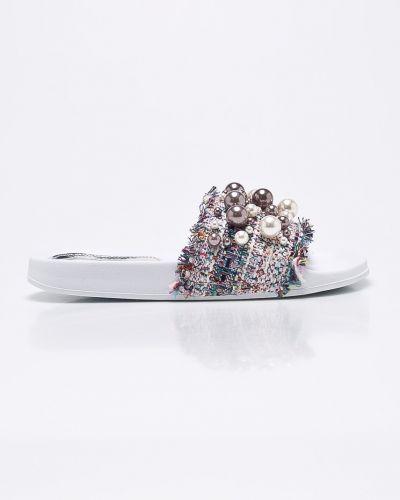 Белые сандалии текстильные Marco Tozzi
