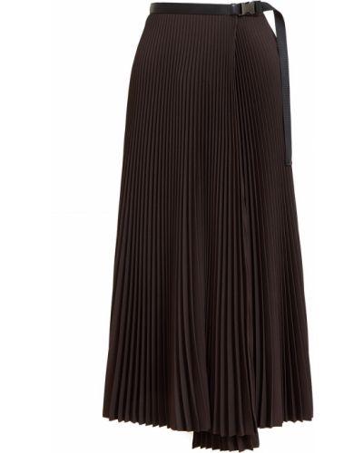Плиссированная юбка - коричневая Prada