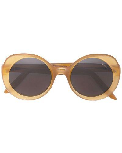 Муслиновые желтые солнцезащитные очки круглые Lapima