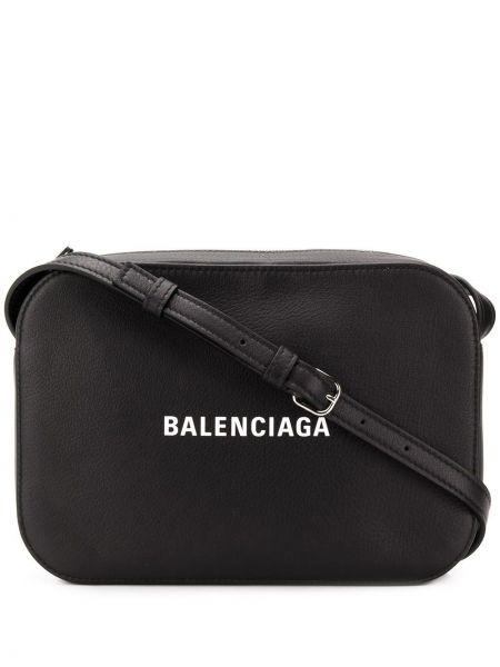 Skórzana torebka crossbody z logo Balenciaga