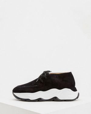 Кроссовки замшевые черные Nando Muzi
