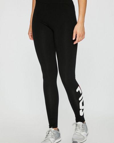Черные брюки на резинке Fila