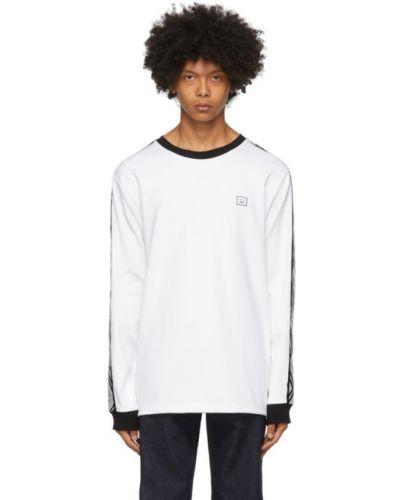 Długo z rękawami koszula z logo na trądzik Acne Studios