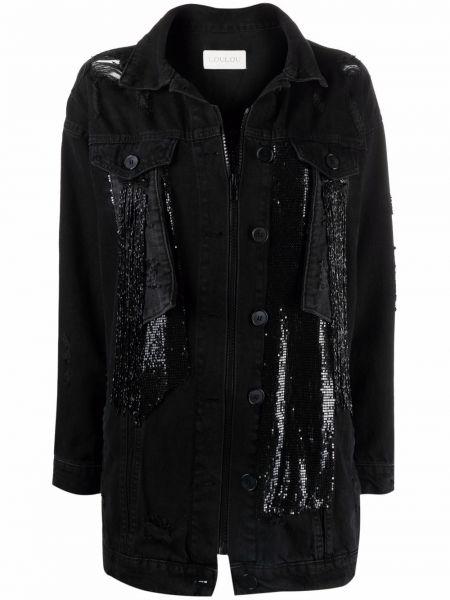 Черная куртка с воротником Loulou