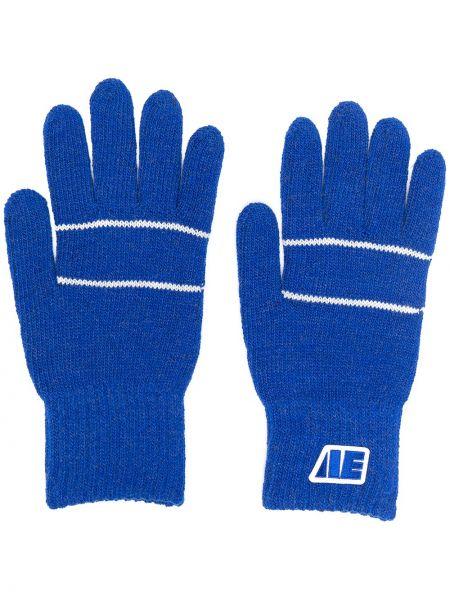 Prążkowane białe rękawiczki wełniane Ader Error