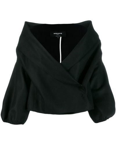 Черная длинная куртка Rochas