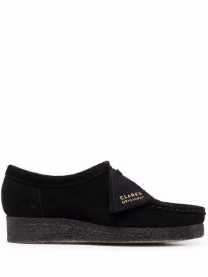 Черные кожаные туфли Clarks Originals