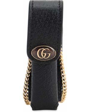 Torba kosmetyczna skórzany z logo Gucci