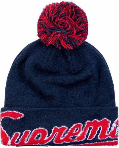 Niebieska czapka bawełniana Supreme