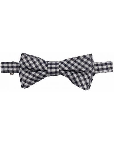Biały krawat srebrny z printem Woolrich Kids