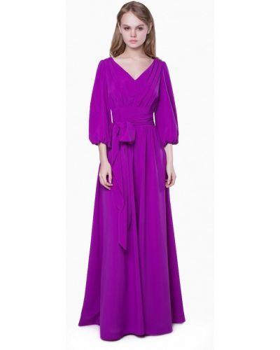 Платье макси осеннее фиолетовый Marichuell