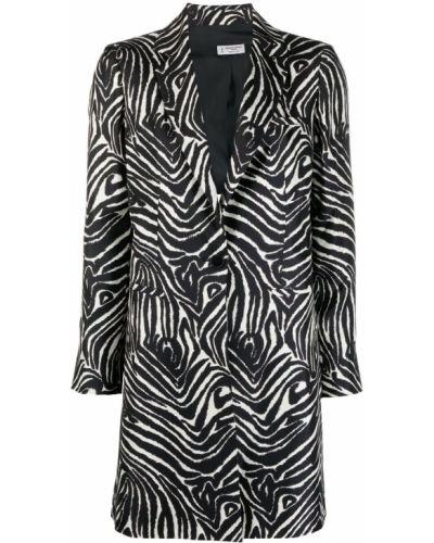 Однобортное черное длинное пальто на пуговицах Alberto Biani
