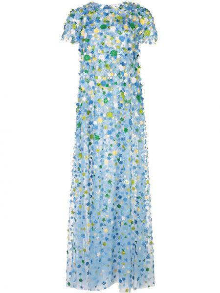 Вечернее платье мини на пуговицах Carolina Herrera