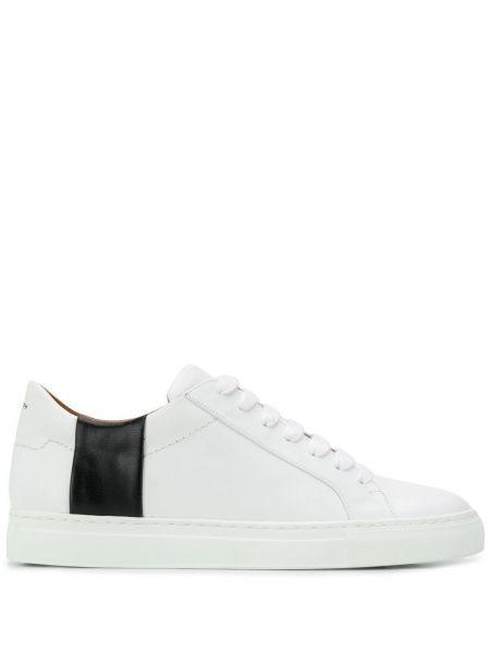 Skórzane sneakersy białe zasznurować Joseph