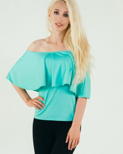 Блузка бирюзовая весенний Подіум