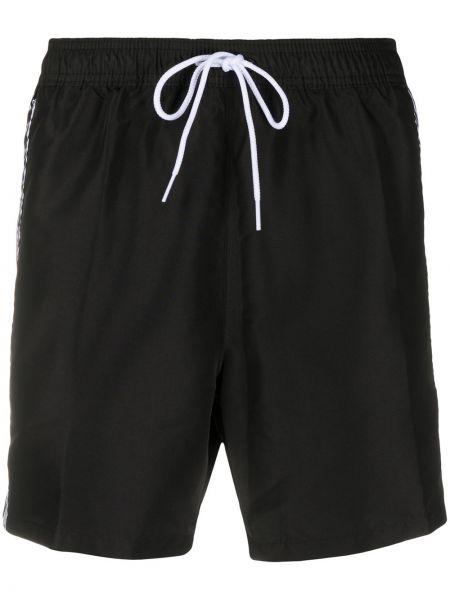 Короткие шорты на резинке черные Calvin Klein