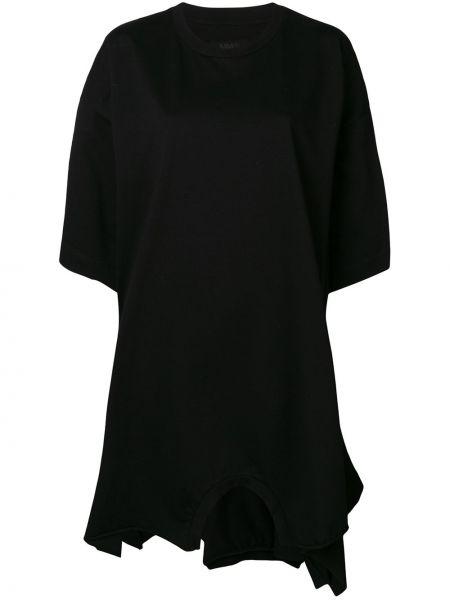 Платье мини короткое - черное Mm6 Maison Margiela