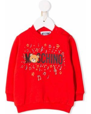 Свитер красный прямой Moschino Kids