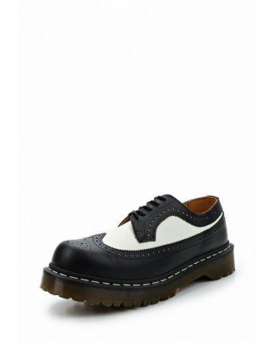 Черные кожаные туфли Dr Martens
