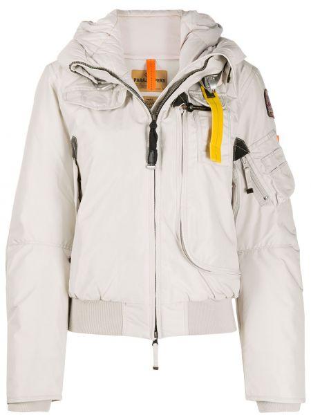 Серая куртка с капюшоном на молнии Parajumpers