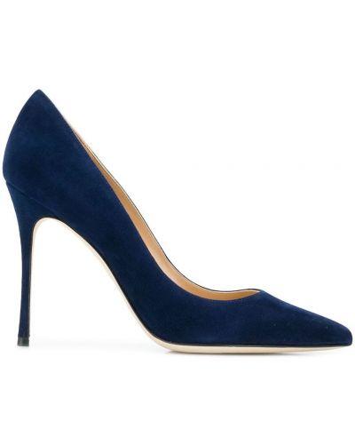 Туфли-лодочки на шпильке синий Sergio Rossi