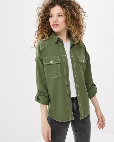 Зеленая блузка с длинными рукавами Taifun