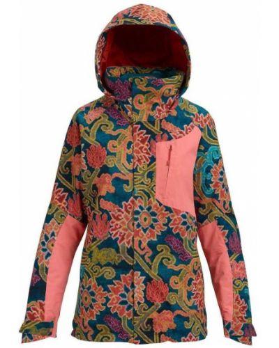 Утепленная розовая куртка сноубордическая Burton