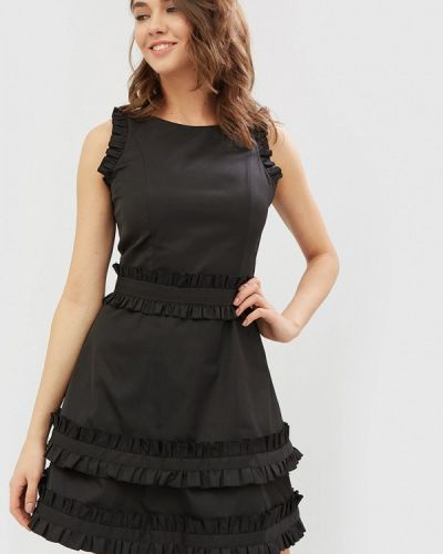 Черное платье осеннее Cardo