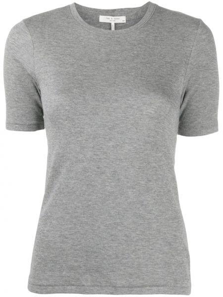 Хлопковая футболка - серая Rag & Bone/jean