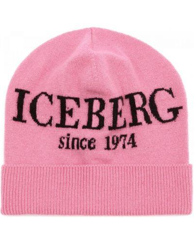 Трикотажная розовая шапка Iceberg