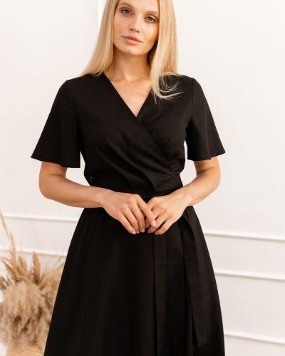 Черное платье на запах Origa
