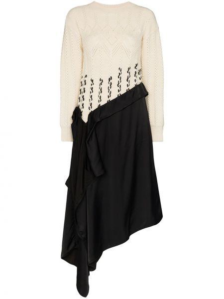 Платье в рубчик с драпировкой Loewe