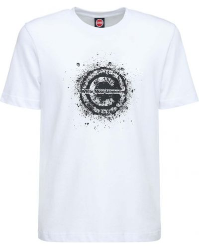 Biały t-shirt bawełniany Colmar Originals