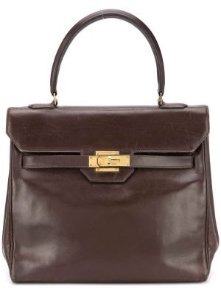 Кожаная сумка сумка-тоут круглая Hermès