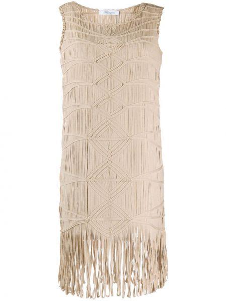 Платье с бахромой Blumarine