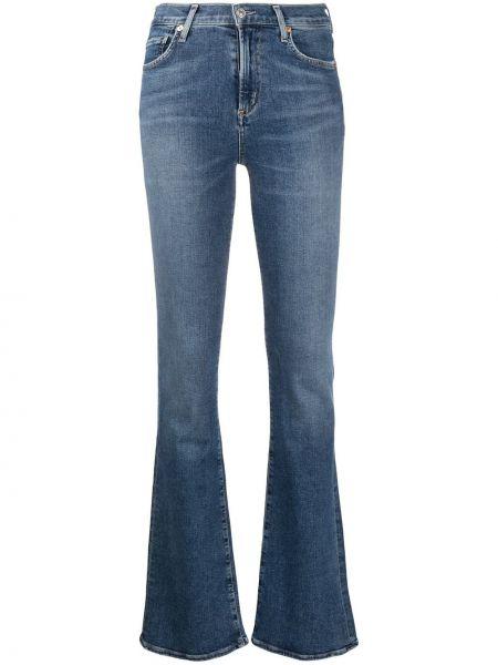 Расклешенные джинсы синие с карманами Citizens Of Humanity