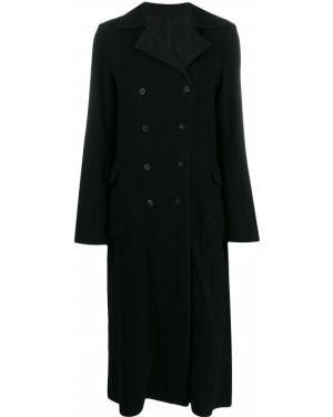 Коралловое длинное пальто с капюшоном Masnada