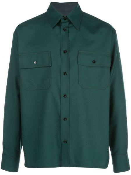 Koszula prosto zielona Marni