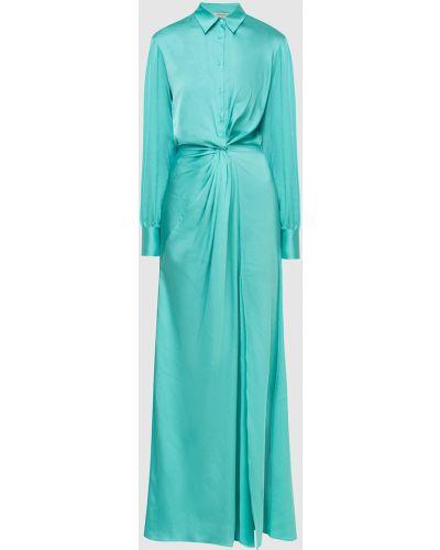 Бирюзовое платье макси Twin-set