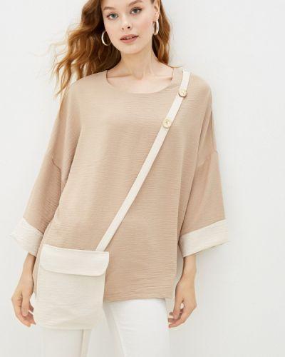 Бежевая зимняя блузка Adzhedo